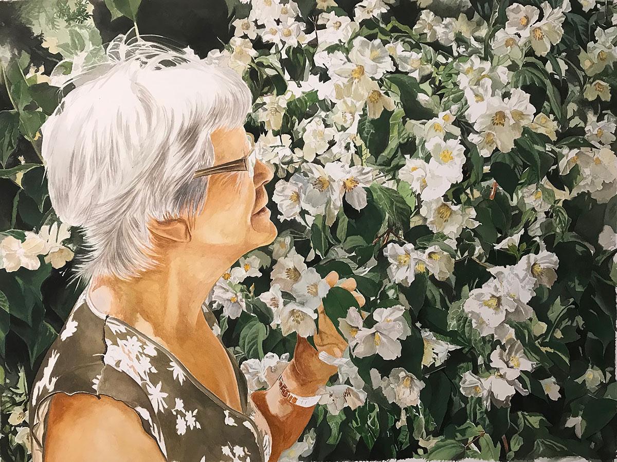 Blomsterportræt 2019 – Gouache